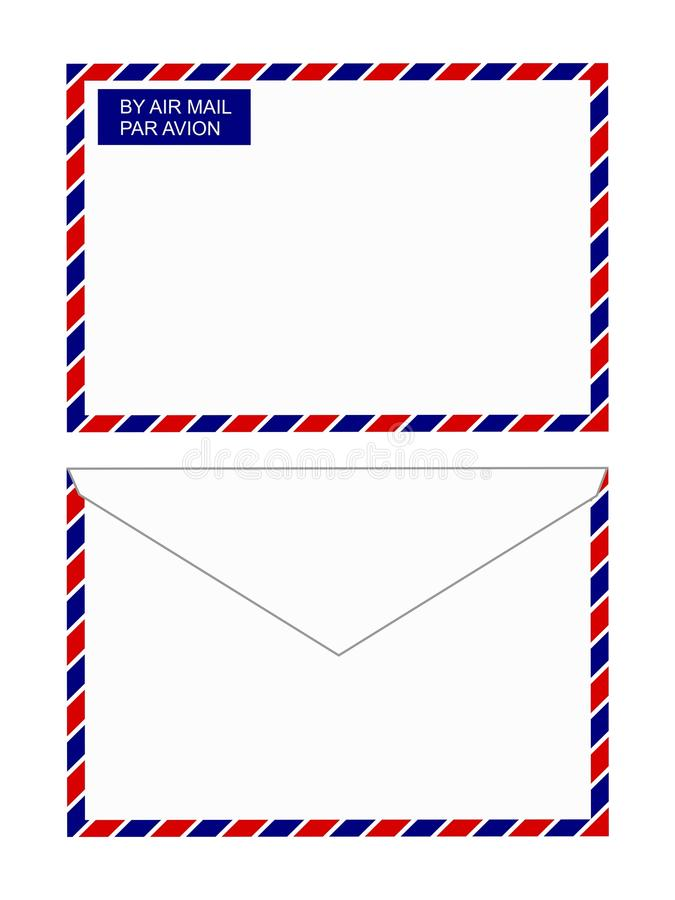 Air mail envelope stock photography