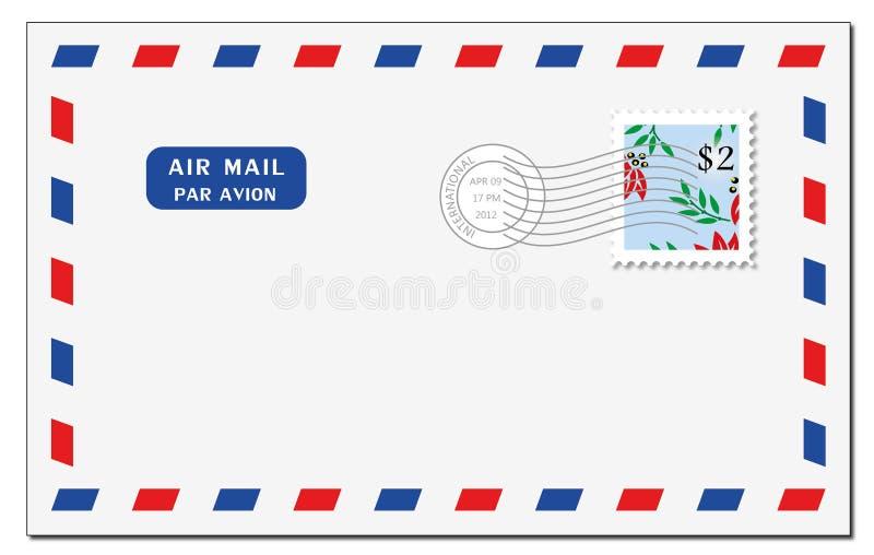Air mail envelope royalty free stock photo