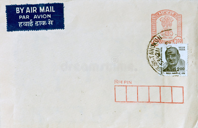 Air Mail from India stock images