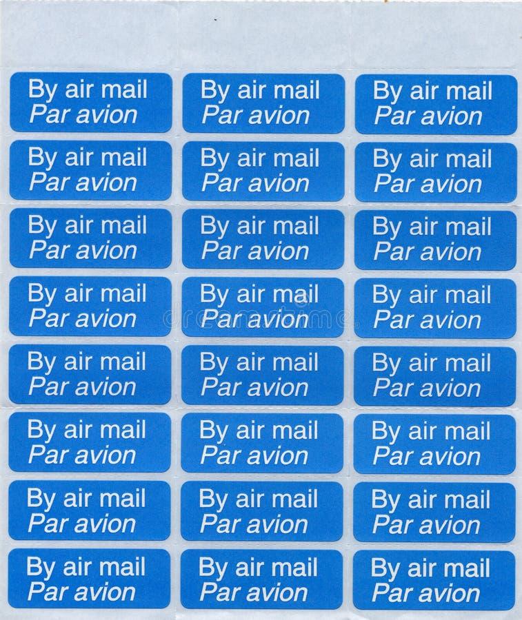 By air mail - par avion stamp sheet
