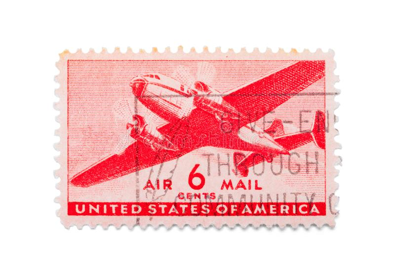 Air Mail Stamp stock photography