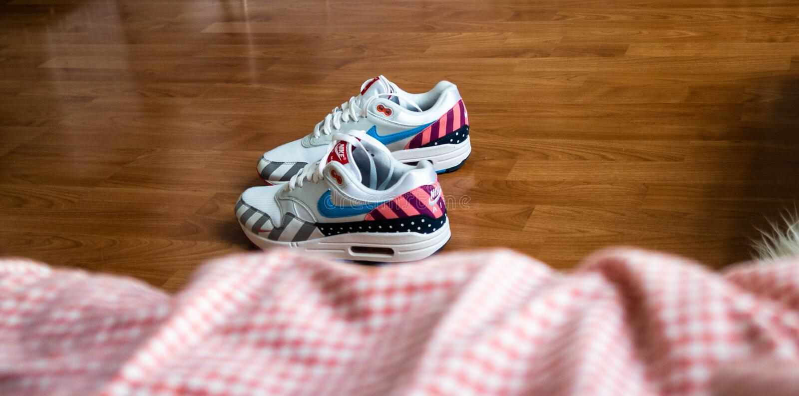 Air max 1 Parra. 2018 One of best sneakers of 2018 royalty free stock images