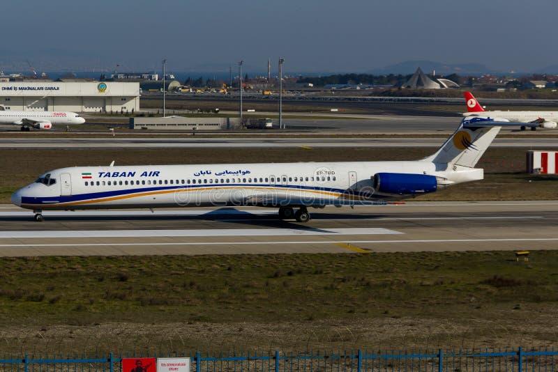 Air McDonnell Douglas MD-80 de Taban images libres de droits