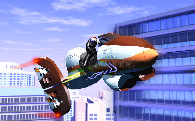 Air motorcycle stock illustration