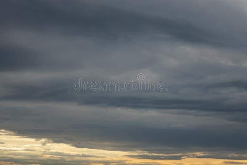 Air movements at the sky in cloudy weather. In nature royalty free stock photos