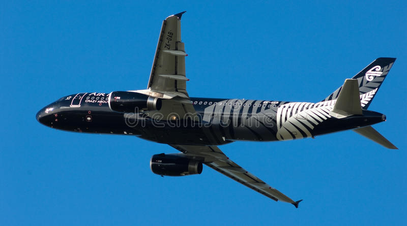 Download Air New Zealand A320 editorial stock image. Image of rugby - 20663619