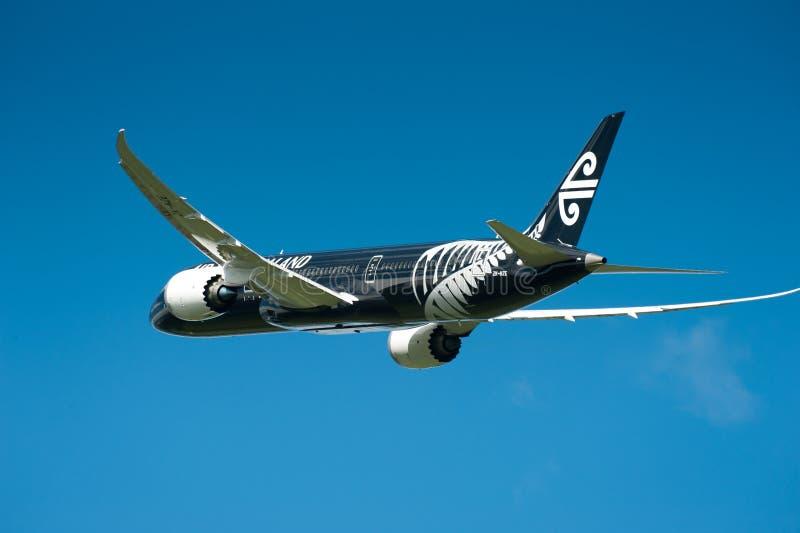 Air New Zealand Boeing 787-9 tijdens de vlucht royalty-vrije stock foto
