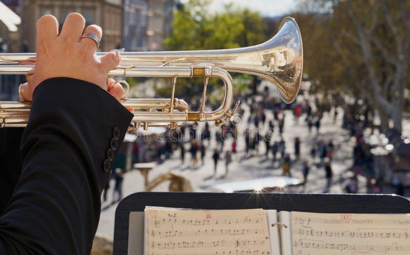 Air ouvert de concert de Trompet photos stock