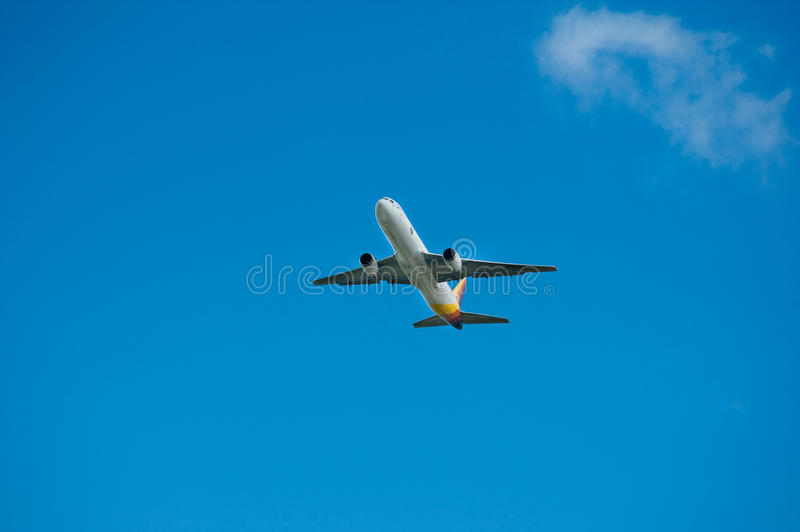 Air Pacific Boeing 767 in flight stock images