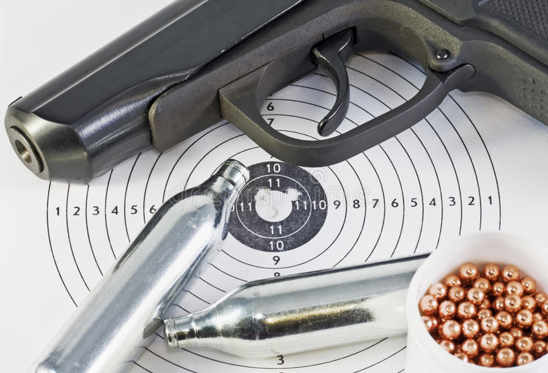Download Air Pistol And Spare Parts For Weapons Stock Image - Image: 11815267