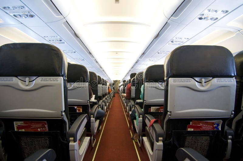 Air plane. The air plane interior photo royalty free stock photos
