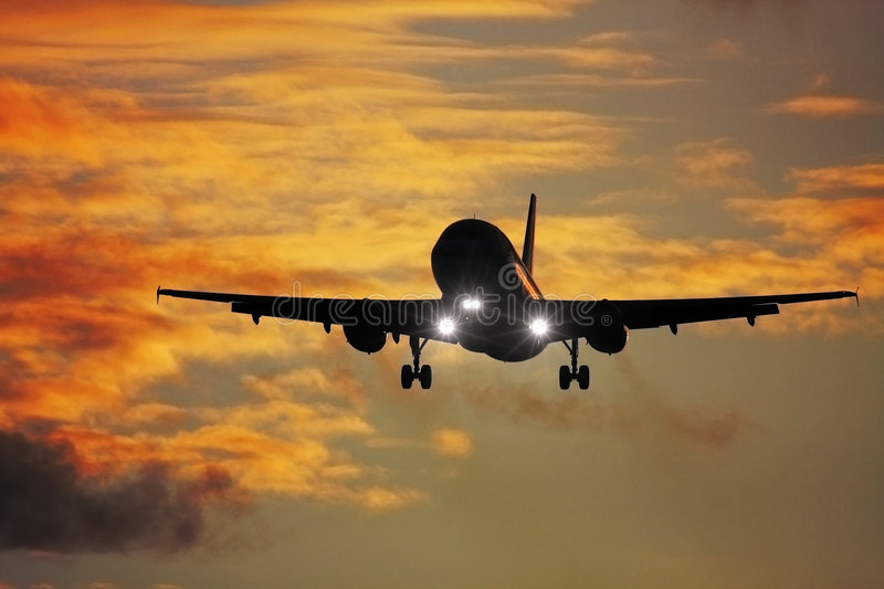 Air plane. A photography of a jet air plane royalty free stock photography
