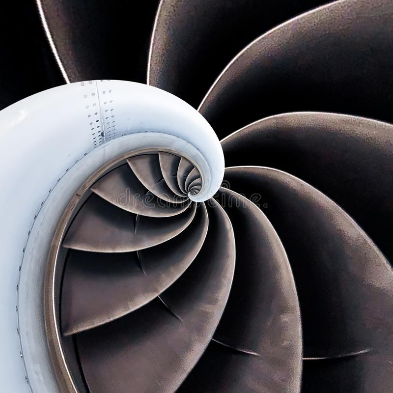 Air plane engine spiral abstract background. Engine fractal background. Industrial infinity spiral surreal abstract image.  royalty free stock photos