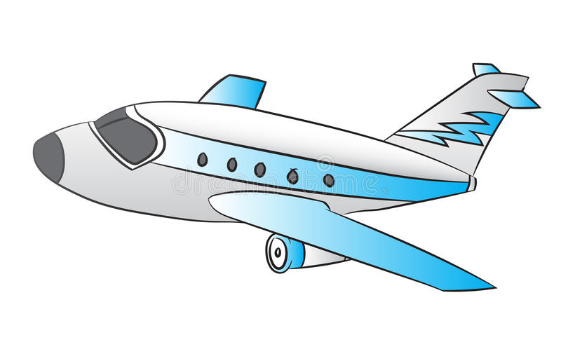 Air plane - Line Drawn Vector. Illustration of Air plane on White Background, Cartoon Vector Illustration vector illustration