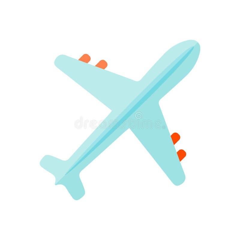 Air plane top view vector. vector illustration