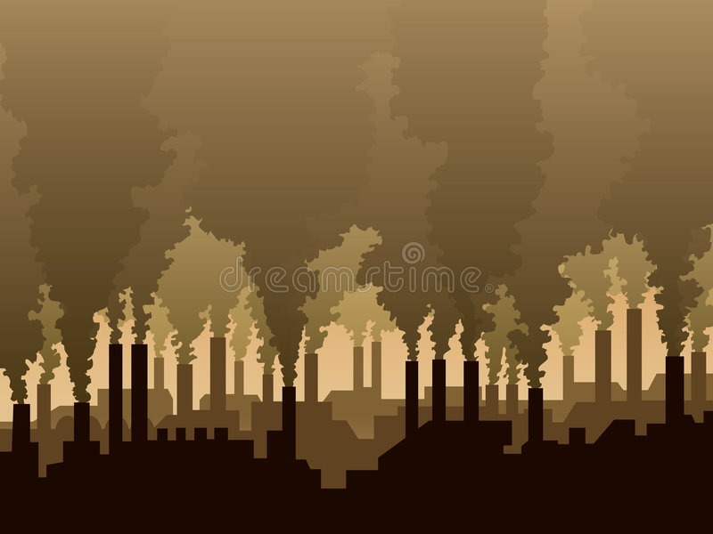 Air pollution vector illustration