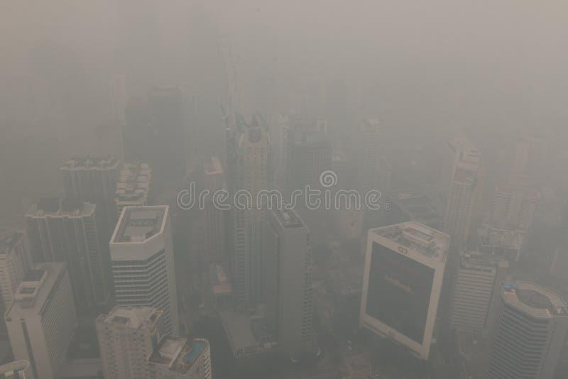 Air pollution (haze) in Kuala Lumur, Malaysia stock photo