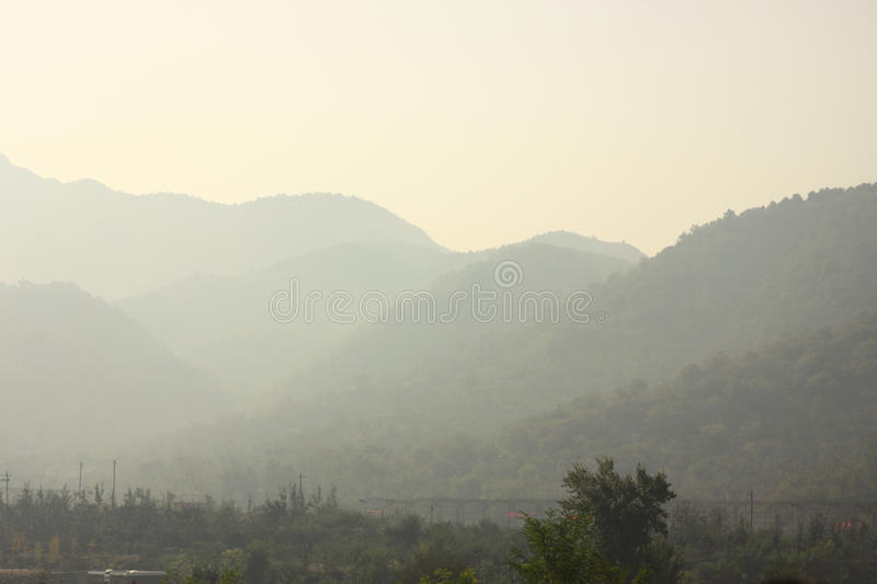 Air pollution in nature stock photography