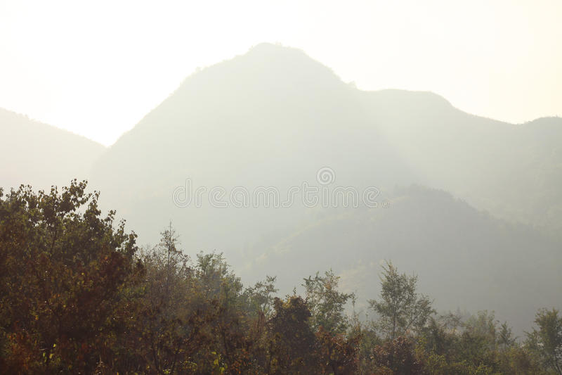 Air pollution in nature royalty free stock photography