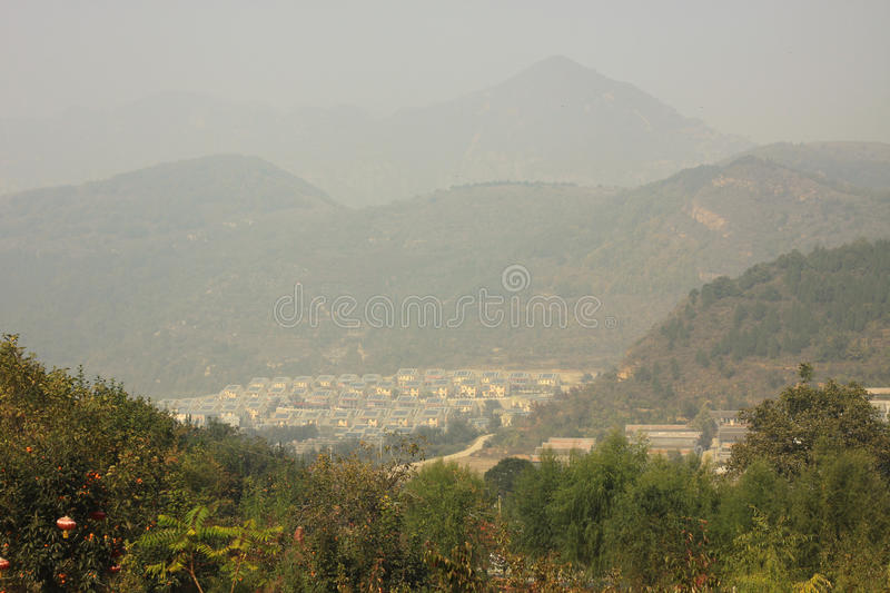 Air pollution in nature royalty free stock image