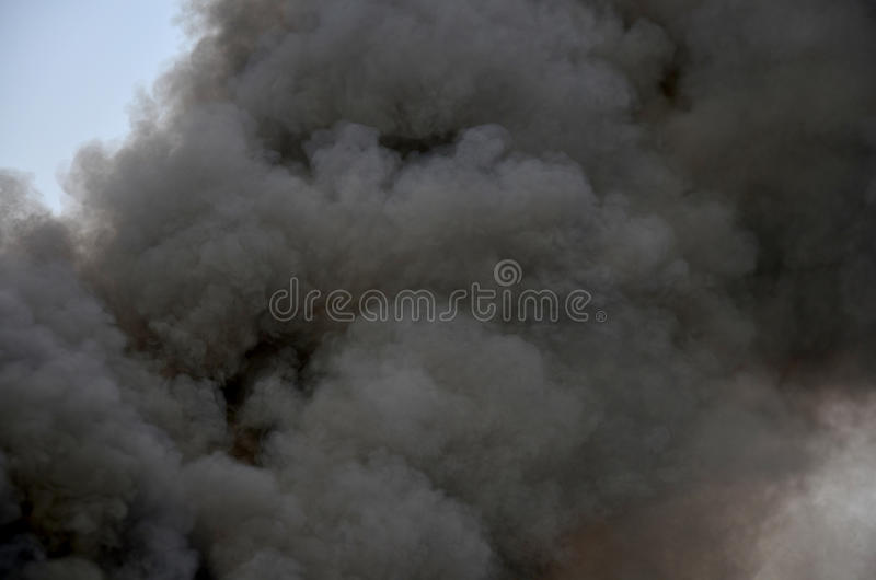 Air Pollution from passenger boat exhaust stock photography