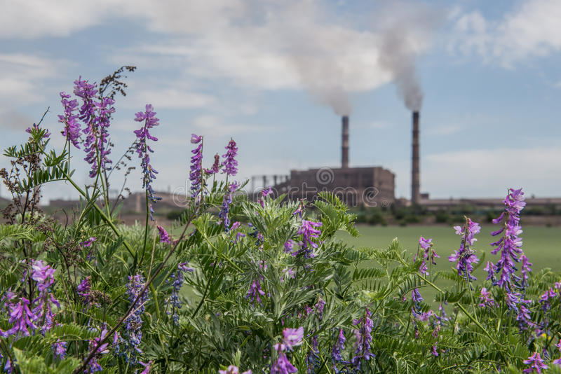 Download Air pollution stock image. Image of ironworks, plant - 42083485