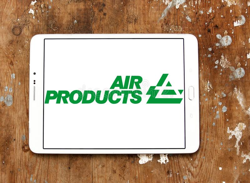 Air Products & Chemicals firmy logo obraz stock