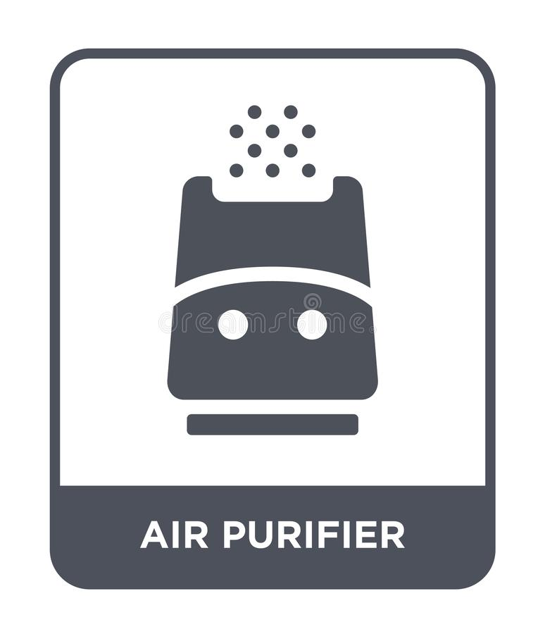 Air purifier icon in trendy design style. air purifier icon isolated on white background. air purifier vector icon simple and. Modern flat symbol for web site royalty free illustration