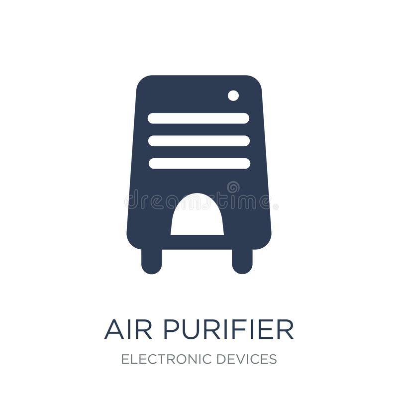 Air purifier icon. Trendy flat vector Air purifier icon on white. Background from Electronic devices collection, vector illustration can be use for web and stock illustration