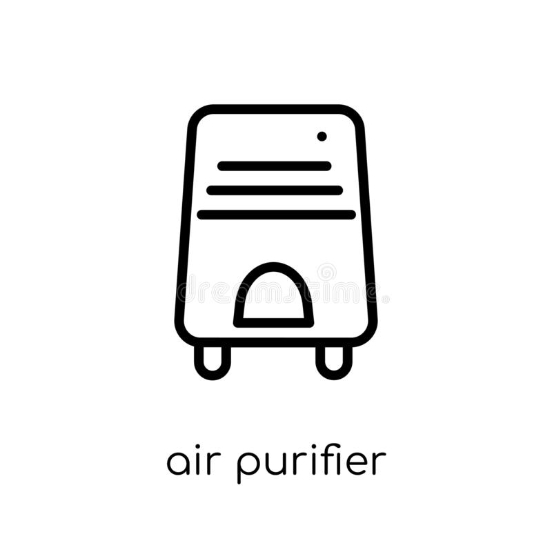 Air purifier icon. Trendy modern flat linear vector Air purifier. Icon on white background from thin line Electronic devices collection, editable outline stroke vector illustration