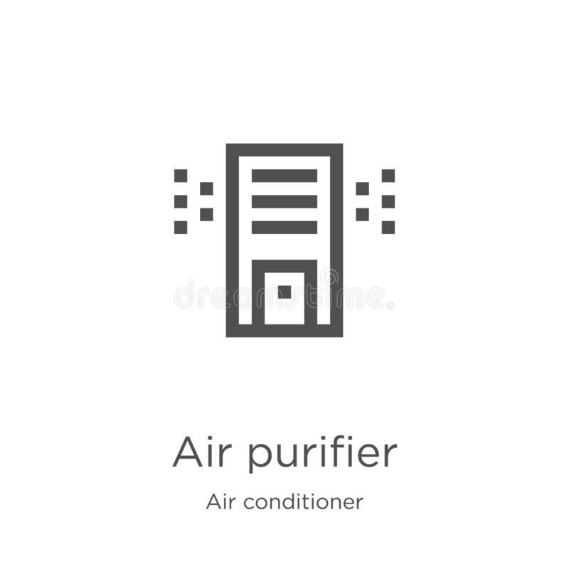 Air purifier icon vector from air conditioner collection. Thin line air purifier outline icon vector illustration. Outline, thin. Air purifier icon. Element of stock illustration