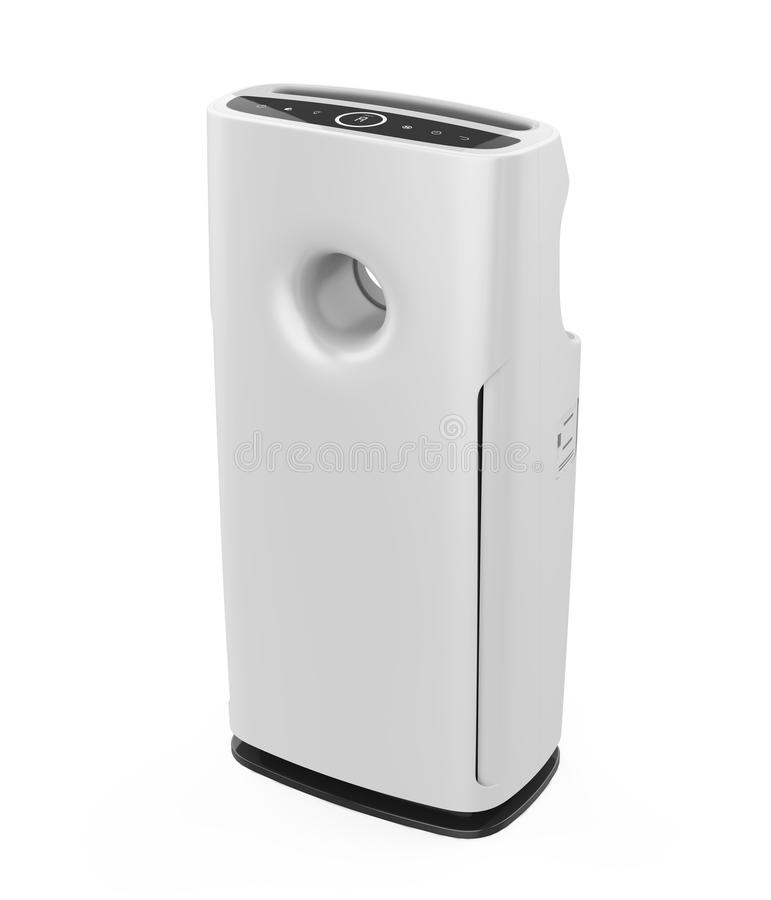 Air Purifier Isolated. On white background. 3D render royalty free illustration