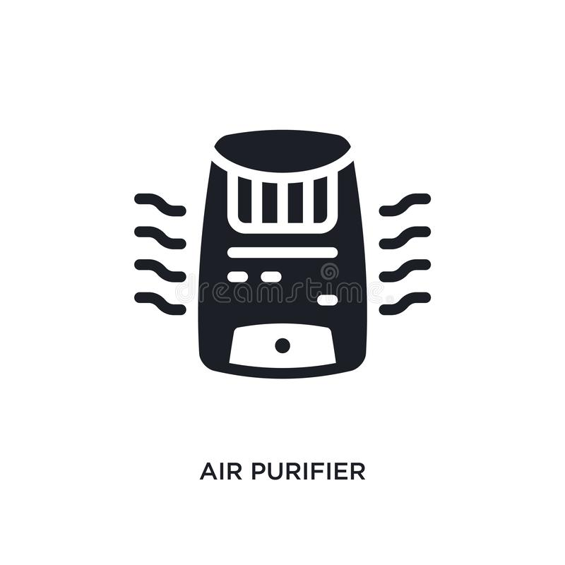 air purifier isolated icon. simple element illustration from electronic devices concept icons. air purifier editable logo sign stock illustration