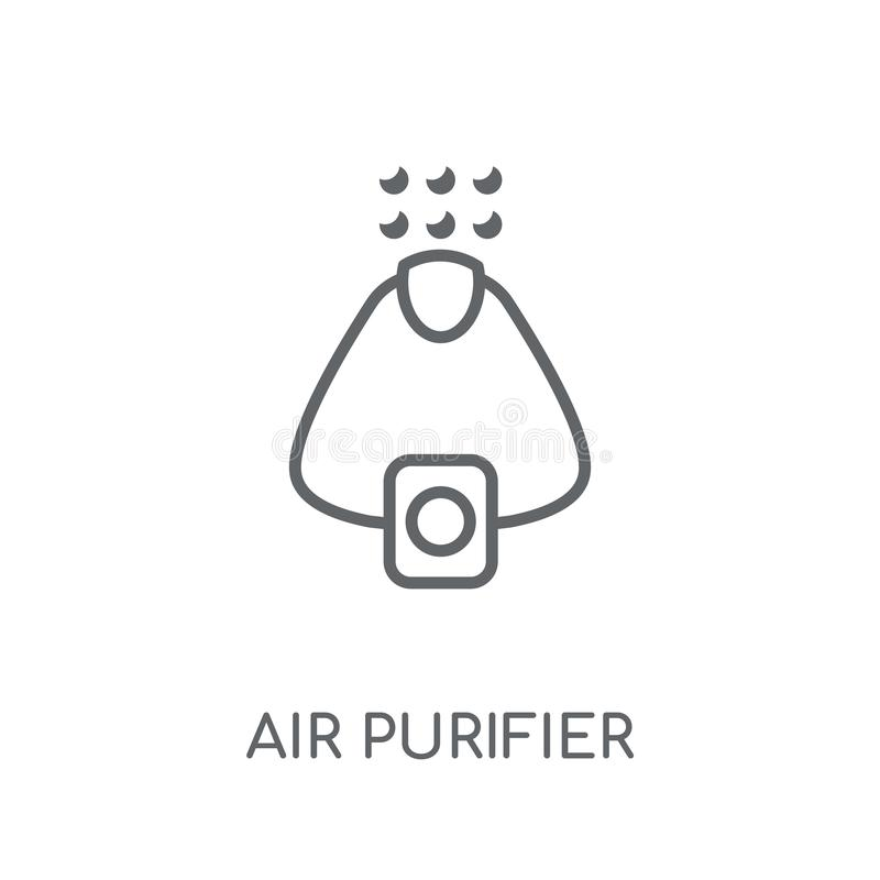 Air purifier linear icon. Modern outline Air purifier logo conce. Pt on white background from Electronic Devices collection. Suitable for use on web apps, mobile vector illustration