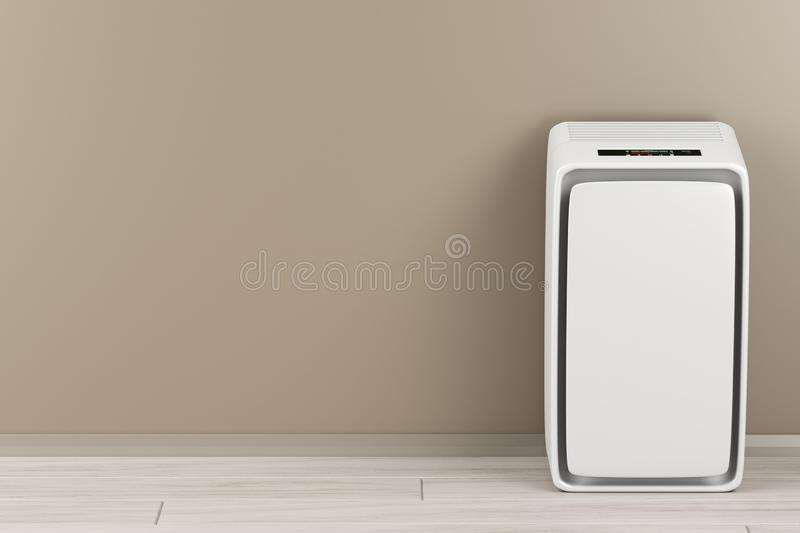 Air purifier in the room. Air purifier in the living room, front view royalty free illustration