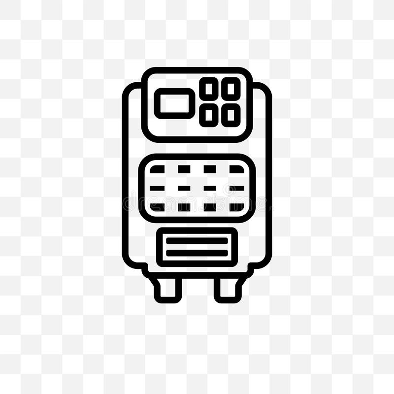 Air purifier vector linear icon isolated on transparent background, Air purifier transparency concept can be used for web and mobi. Le royalty free illustration