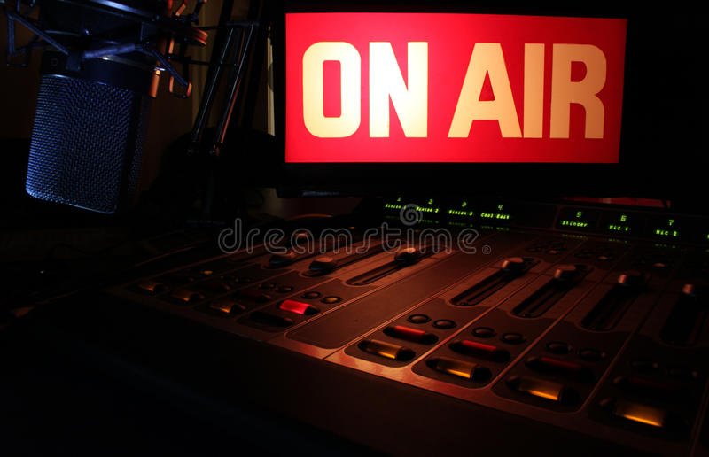 On-Air Radio Panel stock image