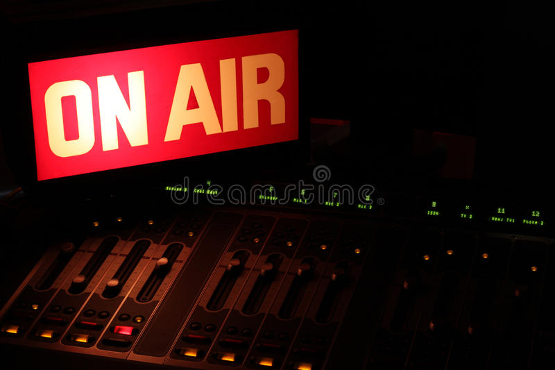 On Air Radio Studio Horizontal royalty free stock photography