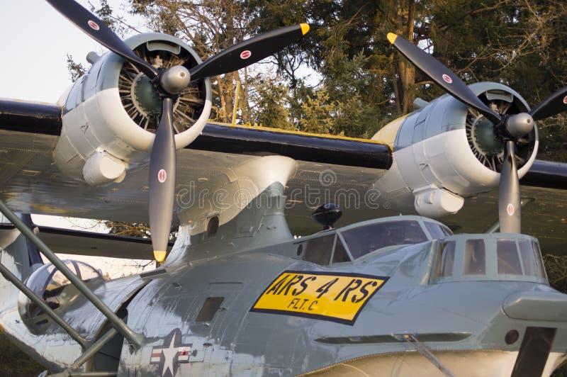 Air Sea Rescue Vintage Aircraft. An SA-10A-UC S/N 44-34053A Air Sea Rescue Vintage Aircraft on display at Joint Base Lewis-McChord (JBLM), McChord Airfield stock photography