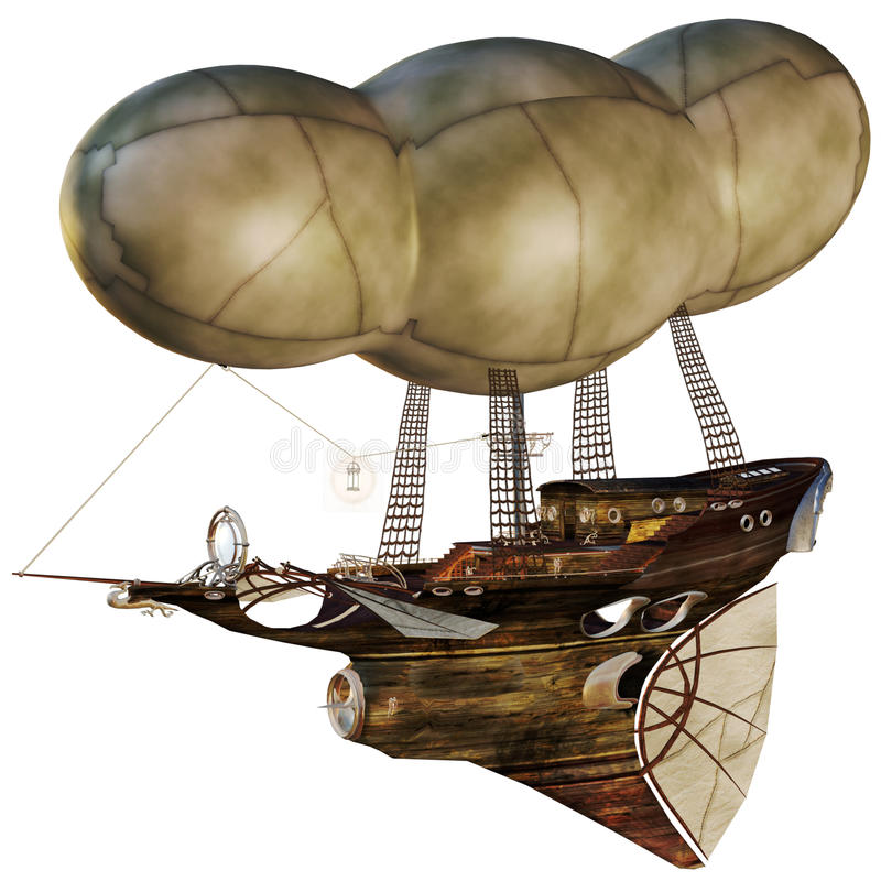 Download Air ship stock illustration. Image of fantasy, vehicle - 16776061