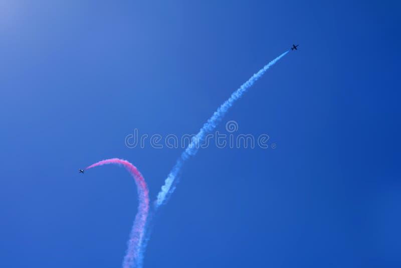 Air Show. Air acrobatics royalty free stock photos