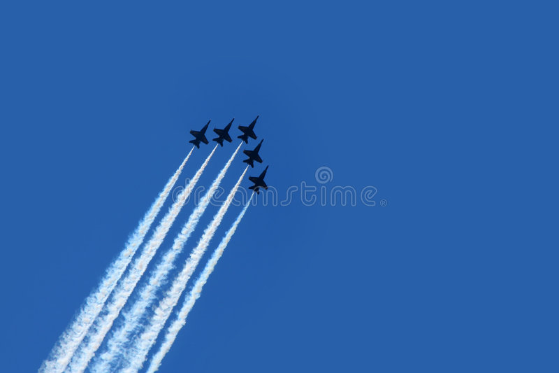 Air Show. Air acrobatics stock image