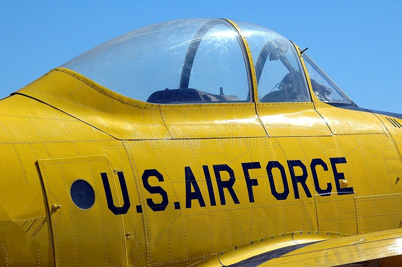 Air Show. Photographed vintage aircraft at air show in Florida stock photography
