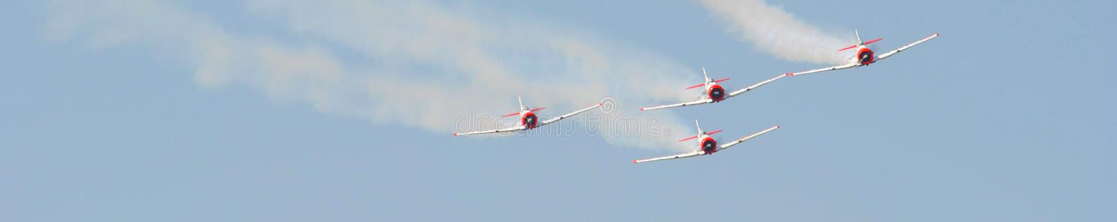 Air show. Aerobatics team at the Swartkop air show in Pretoria, South Africa royalty free stock image