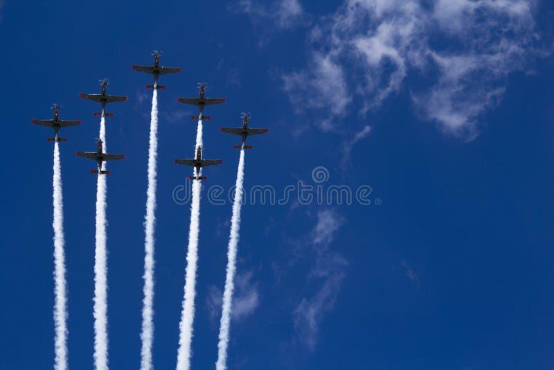 Air show Air parade in Poland. Air parade in Poland Air show Military royalty free stock image
