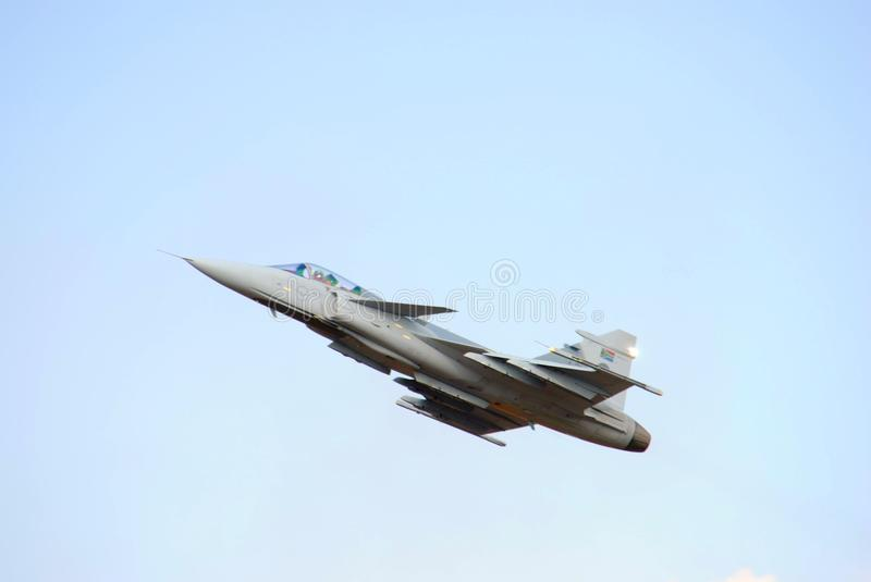 Air show. Fast jet at the Swartkop air show in Pretoria, South Africa stock image