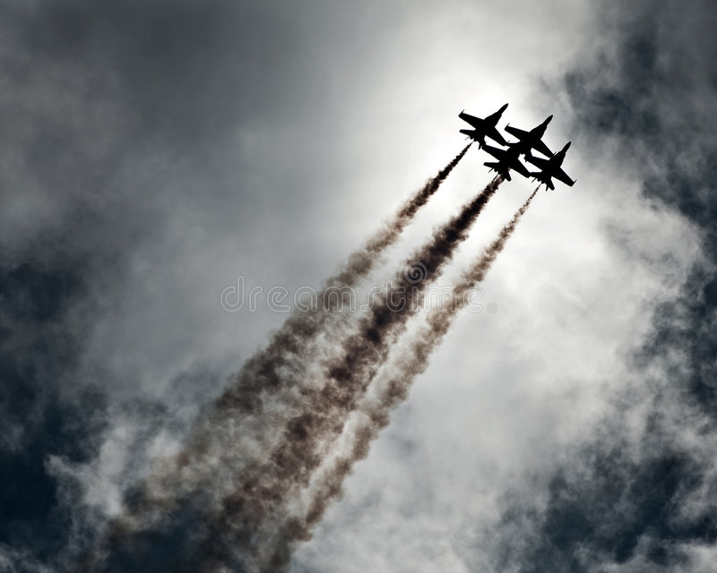 Download Air show planes stock photo. Image of cloud, formation - 5160584