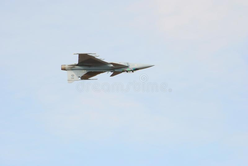 Air show. Single jet fly past at the Swartkop air show in Pretoria, South Africa stock image