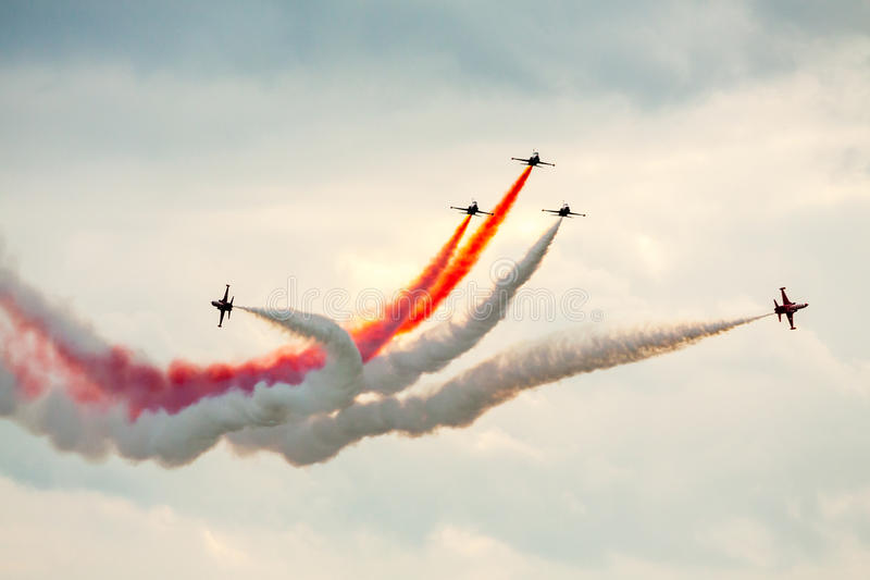 Air Show Teamwork royalty free stock photography