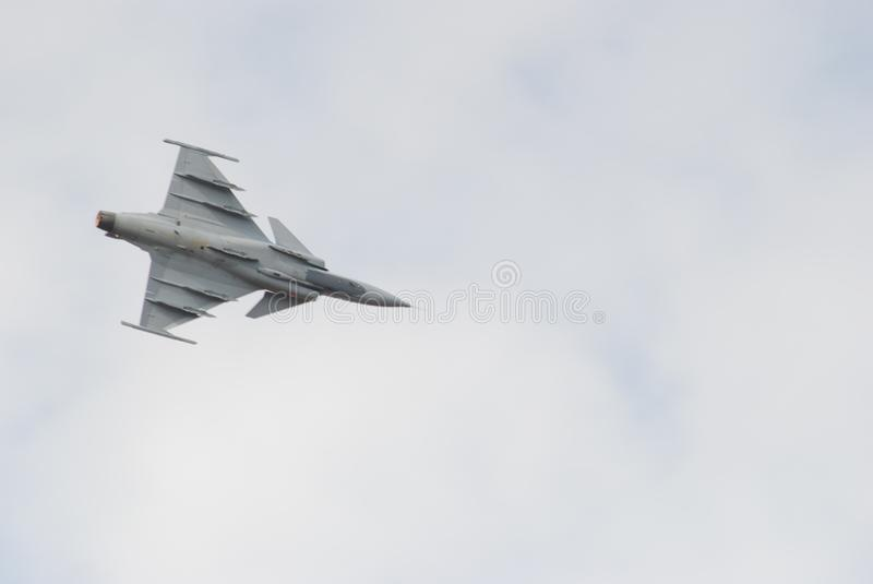 Air show. Underside of a jet flying at the Swartkop air show in Pretoria, South Africa royalty free stock photo